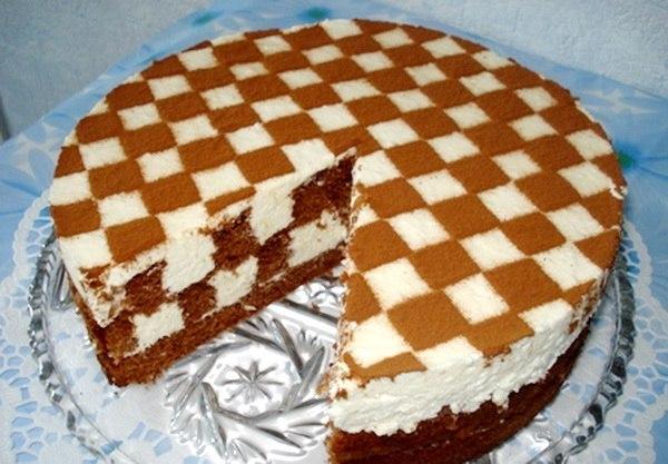 Пирог шахматный